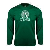 Performance Dark Green Longsleeve Shirt-Alumni - Seal
