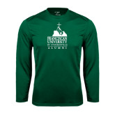 Performance Dark Green Longsleeve Shirt-Alumni - University Mark