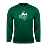 Syntrel Performance Dark Green Longsleeve Shirt-Alumni - University Mark
