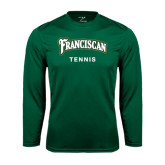 Performance Dark Green Longsleeve Shirt-Tennis