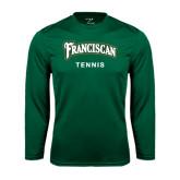 Syntrel Performance Dark Green Longsleeve Shirt-Tennis