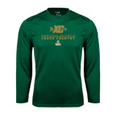 Performance Dark Green Longsleeve Shirt-Cross Country XC Design
