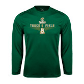 Performance Dark Green Longsleeve Shirt-Track and Field Shoe Design
