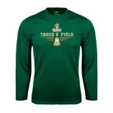 Syntrel Performance Dark Green Longsleeve Shirt-Track and Field Shoe Design