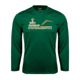 Performance Dark Green Longsleeve Shirt-Swim and Dive Diver Design