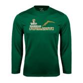 Syntrel Performance Dark Green Longsleeve Shirt-Swim and Dive Diver Design