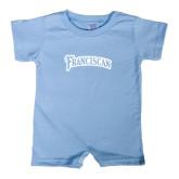 Light Blue Infant Romper-Arched Franciscan