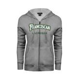 ENZA Ladies Grey Fleece Full Zip Hoodie-Lacrosse