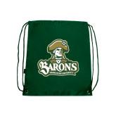 Dark Green Drawstring Backpack-Barons - Franciscan University - Official Logo