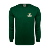 Dark Green Long Sleeve T Shirt-Barons - Franciscan University - Official Logo