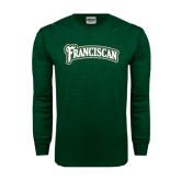 Dark Green Long Sleeve T Shirt-Arched Franciscan