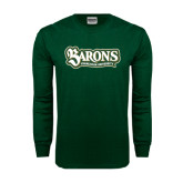 Dark Green Long Sleeve T Shirt-Barons - Franciscan University