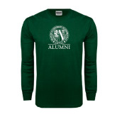 Dark Green Long Sleeve T Shirt-Alumni - Seal