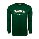 Dark Green Long Sleeve T Shirt-Rugby