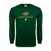 Dark Green Long Sleeve T Shirt-Cross Country XC Design