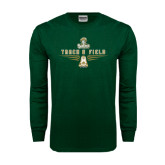 Dark Green Long Sleeve T Shirt-Track and Field Shoe Design