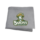 Grey Sweatshirt Blanket-Barons - Franciscan University - Official Logo