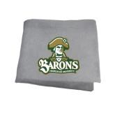 Grey Sweatshirt Blanket-Barons - Franciscan University - Official Logo