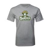 Grey T Shirt-Barons - Franciscan University - Official Logo