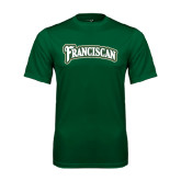 Performance Dark Green Tee-Arched Franciscan