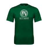 Performance Dark Green Tee-Alumni - Seal