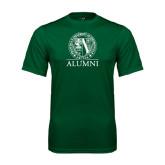 Performance Dark Green Tee-Alumni - Seal
