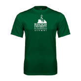 Performance Dark Green Tee-Alumni - University Mark