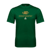 Performance Dark Green Tee-Cross Country XC Design