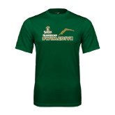 Performance Dark Green Tee-Swim and Dive Diver Design