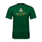 Performance Dark Green Tee-Can You Dig It - Volleyball Design