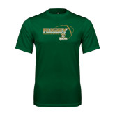 Performance Dark Green Tee-Rugby Ball Design