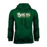 Dark Green Fleece Hood-Barons - Franciscan University