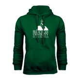 Dark Green Fleece Hood-Franciscan University Mark