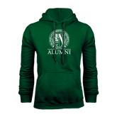 Dark Green Fleece Hood-Alumni - Seal