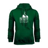 Dark Green Fleece Hood-Alumni - University Mark