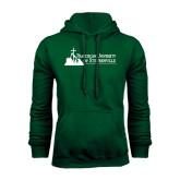 Dark Green Fleece Hood-Franciscan University Mark - Flat