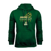 Dark Green Fleece Hood-Stacked Soccer Design
