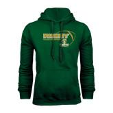 Dark Green Fleece Hood-Rugby Ball Design