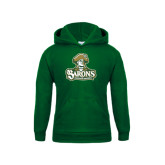 Youth Dark Green Fleece Hood-Barons - Franciscan University - Official Logo