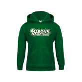 Youth Dark Green Fleece Hoodie-Barons - Franciscan University