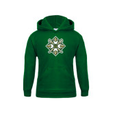 Youth Dark Green Fleece Hood-Shield