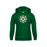 Youth Dark Green Fleece Hoodie-Shield