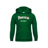 Youth Dark Green Fleece Hood-Rugby