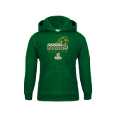 Youth Dark Green Fleece Hoodie-Stacked Soccer Design