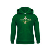 Youth Dark Green Fleece Hood-Track and Field Shoe Design