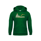 Youth Dark Green Fleece Hood-Swim and Dive Diver Design