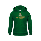 Youth Dark Green Fleece Hood-Can You Dig It - Volleyball Design