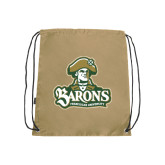 Nylon Vegas Gold Drawstring Backpack-Barons - Franciscan University - Official Logo