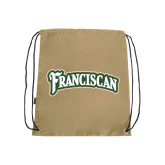 Nylon Vegas Gold Drawstring Backpack-Arched Franciscan