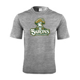 Performance Grey Heather Contender Tee-Barons - Franciscan University - Official Logo